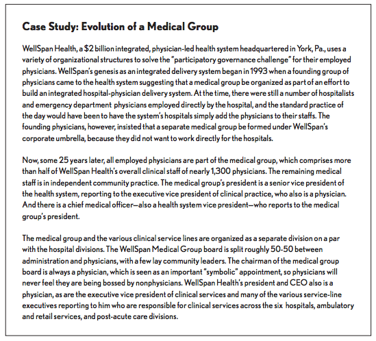 Improving Medical Group Performance as Markets Transition to